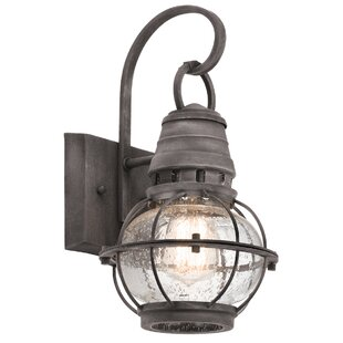Compare & Buy Seaport 1-Light Outdoor Wall Lantern By Breakwater Bay