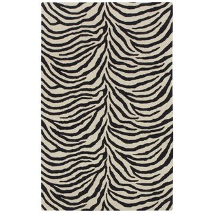Affordable Price Expedition Black/White Zebra Area Rug By Capel Rugs