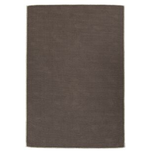 Taelyn Nature Cotton Solid Brown Area Rug byWinston Porter