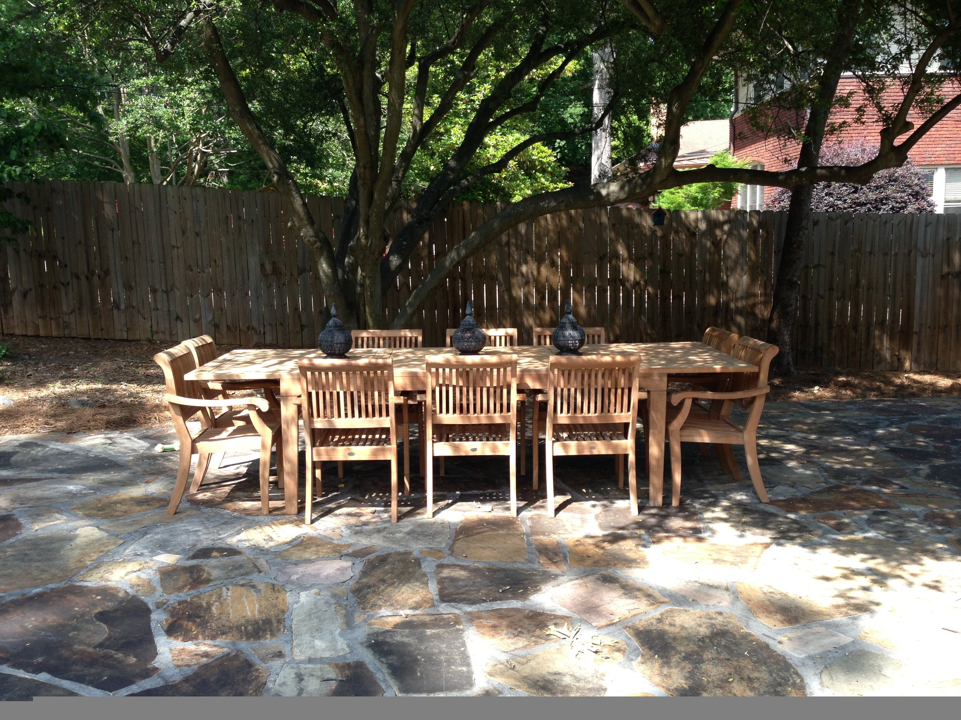 Rosecliff Heights Matamoros 11 Piece Teak Dining Set Wayfair