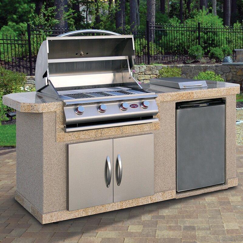 Cal Flame Outdoor Kitchen Islands 4-Burner Built-In Propane Gas ...