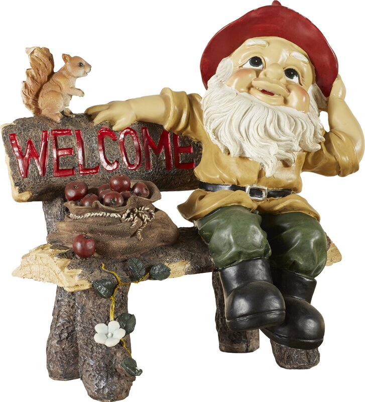 Zingz & Thingz Welcoming Garden Gnome Statue & Reviews   Wayfair on