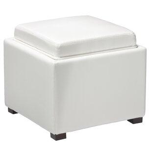 Sensational Newfield Tray Leather Cube Storage Ottoman Inzonedesignstudio Interior Chair Design Inzonedesignstudiocom