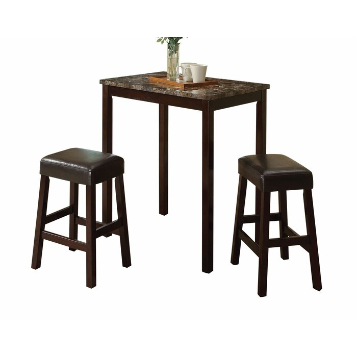 Awesome Bodie 3 Piece Counter Height Dinning Set Ibusinesslaw Wood Chair Design Ideas Ibusinesslaworg