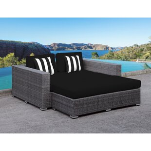 Roslindale 2 Piece Patio Daybed with Cushions