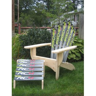 Snow Solid Wood Adirondack Chair with Ottoman