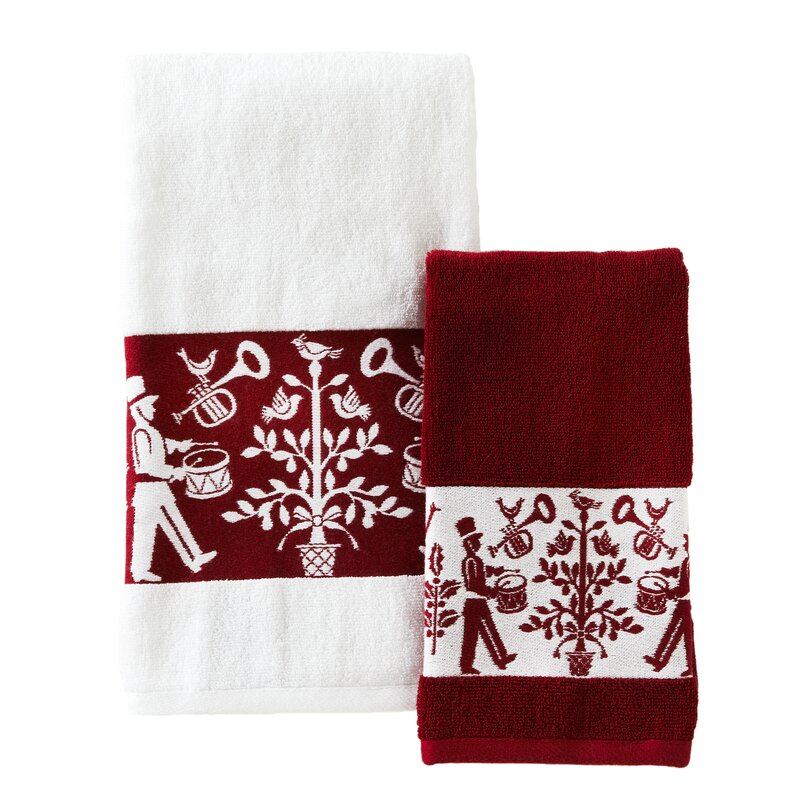 Set of 2 100/% Cotton Valentine Kitchen Towel Set by Envogue Featuring Dachshunds /& Red Hearts