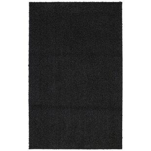 Coupon Keeton Bolster Shag Black Tufted Area Rug ByWrought Studio