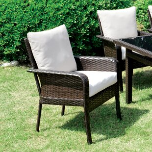 Hayton Patio Dining Chair with Cushion (Set of 2)
