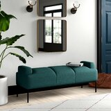 Stickley Faux Leather Upholstered Bench