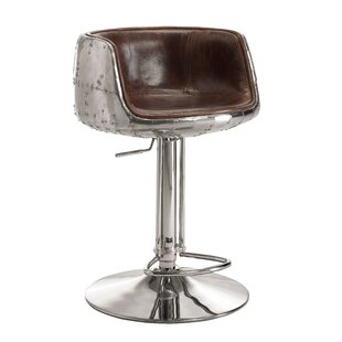 Annessia Modern Adjustable Height Swivel Bar Stool