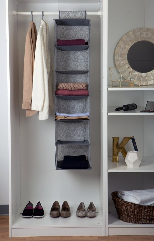 nonwoven 6shelf hanging organizer