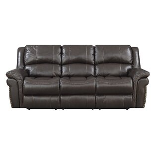 Coupon Everardo Leather Reclining Sofa Darby Home Co