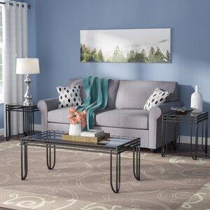 glass living room table. Myra 3 Piece Coffee Table Set Glass Sets You ll Love  Wayfair