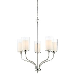 Best Reviews Maddie 5-Light Shaded Chandelier By Zipcode Design