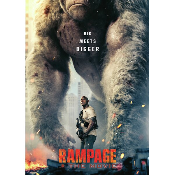 Mightyprint Rampage Movie Dwayne The Rock Johnson George Gorilla