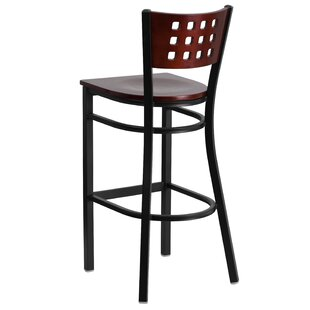 Chafin Cutout Back Metal 30 Bar Stool Winston Porter