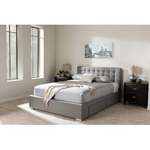 Queen Tufted Upholstered Low Profile Storage Platform Bed by Latitude Run