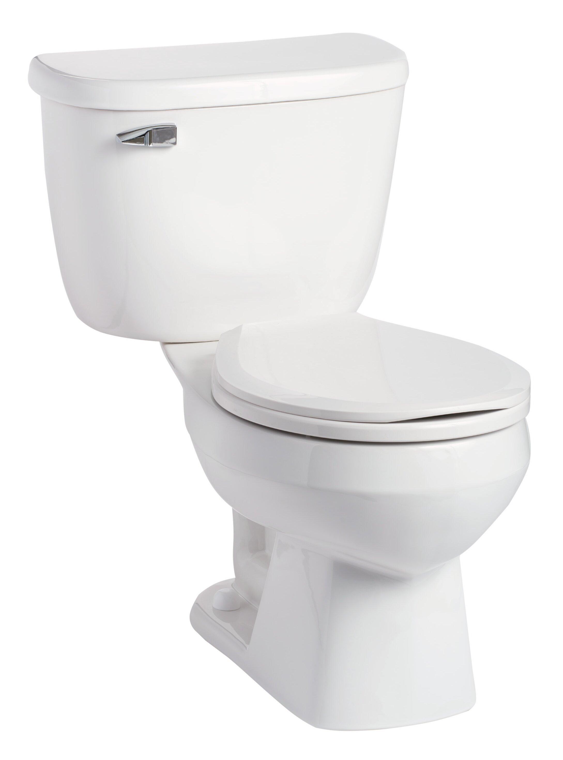 Mansfield Quantum Pressure-Assist 1.6 GPF Round Two-Piece Toilet ...