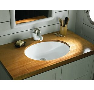 Inexpensive Compass Ceramic Circular Dual Mount Bathroom Sink By Kohler
