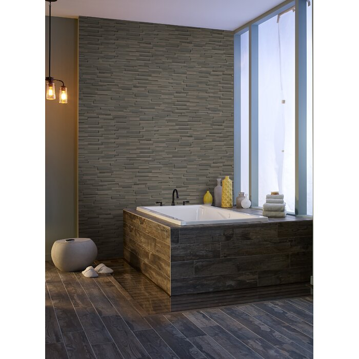 Brown Wave 6 X 18 Sandstone Wall Tile In