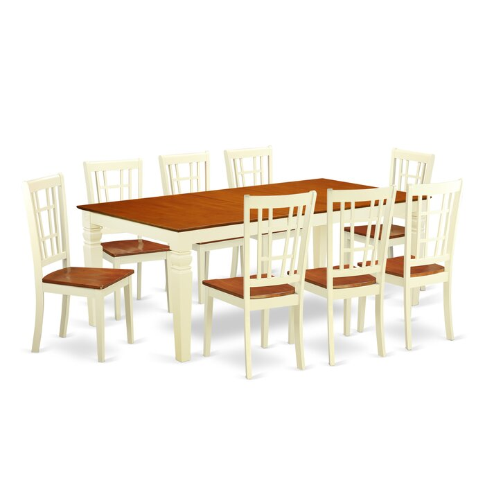 Super Beesley 9 Piece Buttermilk Cherry Wood Dining Set Caraccident5 Cool Chair Designs And Ideas Caraccident5Info