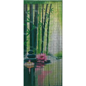 Awesome Serenity Zen Bamboo Beaded Single Curtain Panel