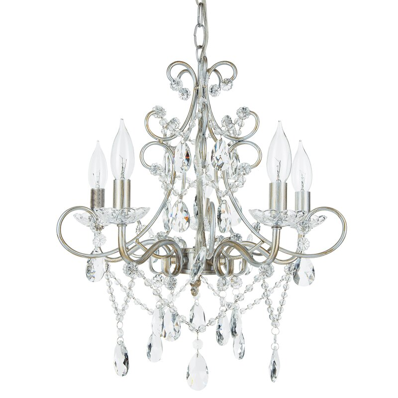 Sherwood 5 light crystal chandelier