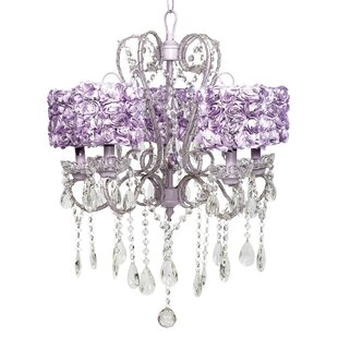 Purple shade chandeliers youll love wayfair save to idea board white purple mozeypictures Image collections