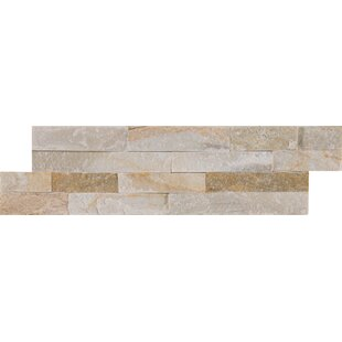 Golden Honey Random Size Natural Stone Splitface Tile in White