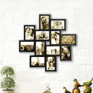 a33a93b0e9 Germain Gallery Collage Wall Hanging 12 Opening Photo Sockets Picture Frame  Set