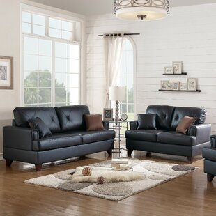 Price comparison Komarek 2 Piece Leather Living Room Set by Red Barrel Studio Reviews (2019) & Buyer's Guide