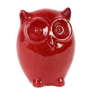 Ceramic Owl LG Red