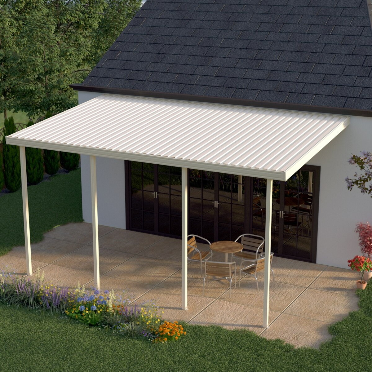 W x 12 ft. D Patio Awning u0026 Reviews | Wayfair & HeritagePatios 20 ft. W x 12 ft. D Patio Awning u0026 Reviews | Wayfair
