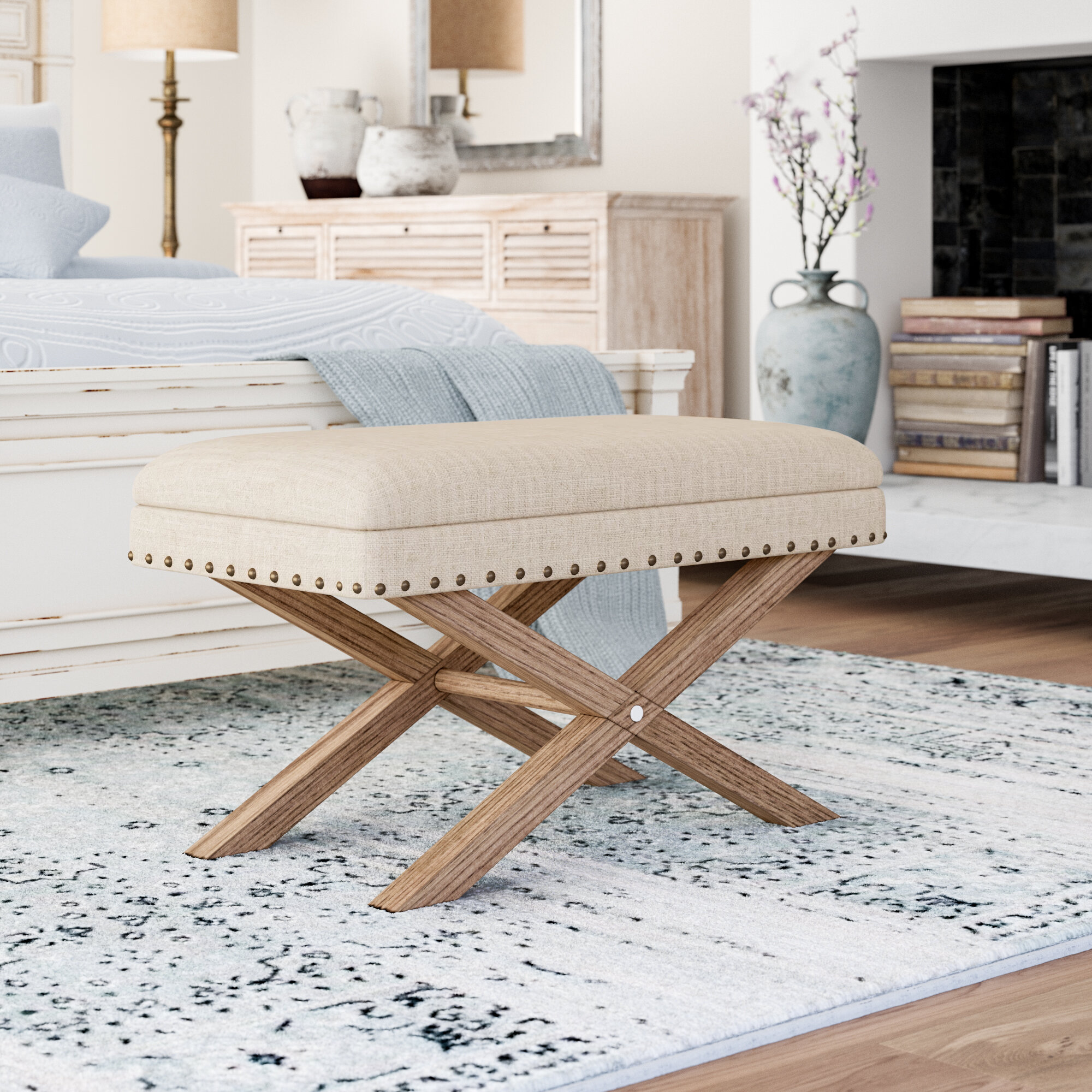 Wondrous Lark Manor Blanchard Upholstered Storage Bench Reviews Ibusinesslaw Wood Chair Design Ideas Ibusinesslaworg