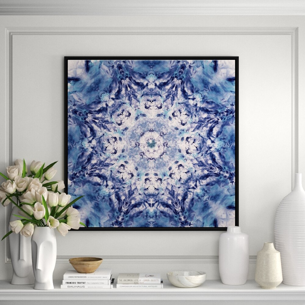 Jbass Grand Gallery Collection Indigo Gem Kaleidoscope I Framed Print On Canvas Perigold