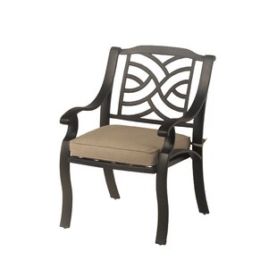Borman Stacking Patio Dining Chair with Cushion