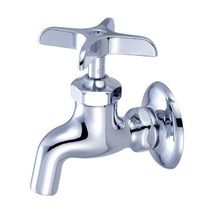 Reviews Wall Mounted Sink Faucet with Single Cross Handle By Central Brass