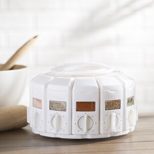 Auto Measure Carousel Spice Jar & Rack Set