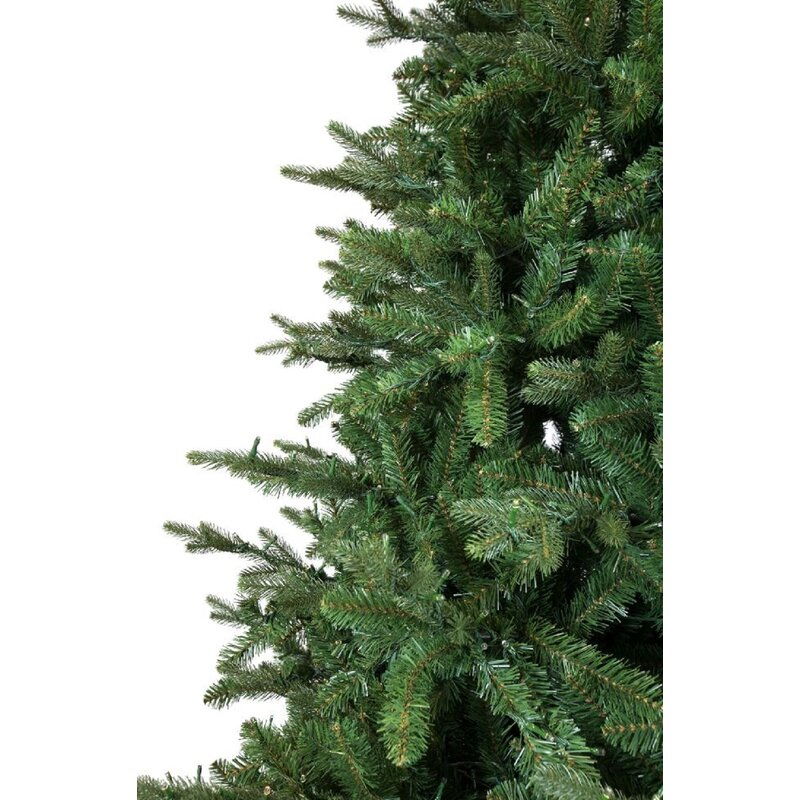 Slim Canadian Balsam Fir Artificial Christmas Tree With Warm White Lights Remote
