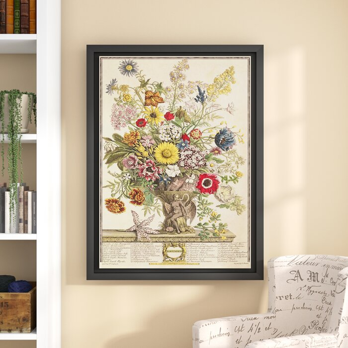Three Posts \'November from Twelve Months of Flowers\' Framed Graphic ...