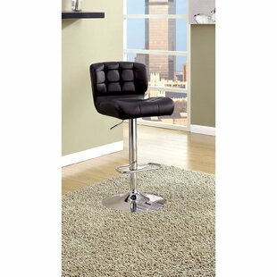 Quintin Adjustable Height Swivel Bar Stool Orren Ellis