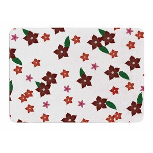 Holiday Floral by NL Designs Bath Mat