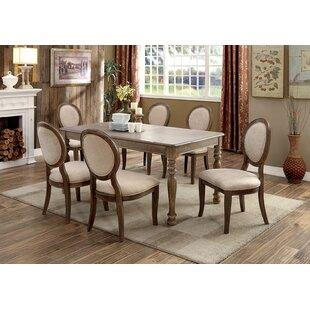 Updike 7 Piece Solid Wood Dining Set Ophelia & Co.