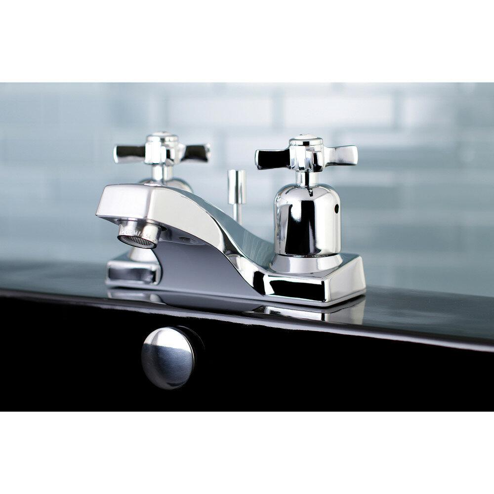 Kingston Brass Millennium Centerset Bathroom Faucet with Drain ...