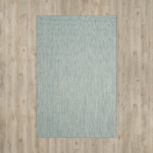 Brodie Aqua/Gray Indoor/Outdoor Area Rug