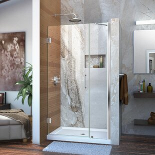 Unidoor 41 x 72 Hinged Frameless Shower Door with Clearmax? Technology by DreamLine