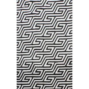 Greenstein Reversible Black/White Outdoor Area Rug ByBrayden Studio