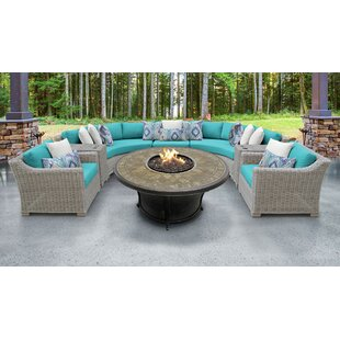 Coast Outdoor 8 Piece Sectional Seating Group with Cushions