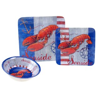 Vonda Maritime Lobster 12 Piece Dinnerware Set